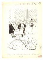 'Call Me Daddy' Show Girl Humorama Gag - 1960 Signed Comic Art