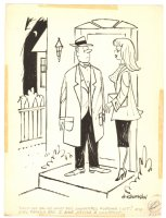 Expensive Date Babe Humorama Gag - 1961 Signed Comic Art