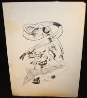 Fantastic Four Ink Art Only Homage to Jack Kirby - LA - Signed Comic Art