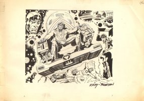 DC Who's Who - Metron, Orion, & Others- Jack Kirby Lightbox - Ink Art Only - Signed Comic Art