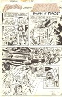 Adventure 422 pg 5 - Supergirl Title page Alien Invaders - Signed Comic Art