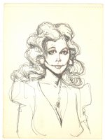 Female Portrait - Late 1970's Comic Art