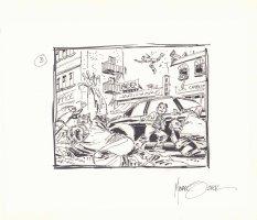 Aliens Invading #3 Prelim - Signed Comic Art