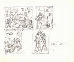Aliens Invading #s 3-6 Prelim - Signed Comic Art