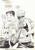 Eliminator #1 p.1 - LA - Eliminator (Jack Bodick) Splash - 1995 Signed Comic Art