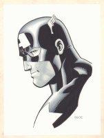 Captain America Side Portrait - Signed Comic Art