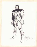 Costumed Character Full Figure Shot - Signed Comic Art