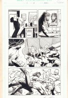 Damned #2 p.12 - Gang Fight - 1995 Signed  Comic Art