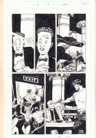 Damned #2 p.18 - Club Shootout - 1995 Signed  Comic Art
