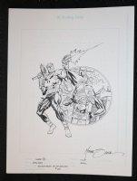 Adventures of Spider-Boy Amalgam Card Art Chase 7 - 1st Punisher App Homage - Signed Comic Art