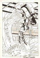 Guy Gardner: Warrior #18 p.4 - Action Splash - 1994 Signed Comic Art