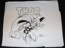 Thor Merchandise Art - Possibly for Corgi Toy Cars - Late 1970's Signed