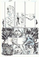 Green Arrow / Black Canary #26 p.8 - Blue line ink art only of Mike Norton layouts - 2010 Comic Art