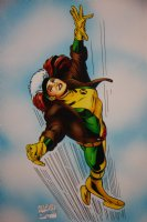 Mark McNabb Color Art of Rogue over Paul Smith Stat 1995 Comic Art