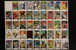 Jim Lee II Trading Cards Sheet Color Art Proofs Printer Separation and Box Art Wolverine, X-Men, Hulk- 1991 Comic Art