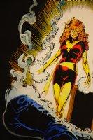 Mark McNabb Color Art of Dark Phoenix over Paul Smith Stat 1987 Comic Art