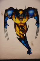 Mark McNabb Color Art of  Wolverine Over George Pratt Stat 1993 Comic Art