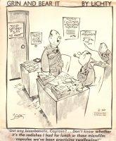 Grin & Bear it  Army Gag 2-26-1968 Comic Art