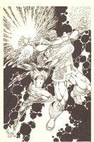Captain Marvel vs. Thanos Commission - 2014 Signed Comic Art
