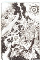 "Doom 2099 vs. Magus, the ""Evil"" Warlock Commission - Signed Comic Art"