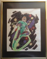 Green Lantern Color Commission - 1990 Signed Comic Art