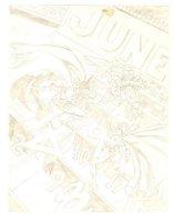 Batman Cover Prelim - Batman & Robin vs. Calendar Man Comic Art