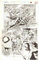 Spider-Man and X-Factor: Shadowgames #2 p.27 - Great Team Shot & Spidey - 1994 Comic Art