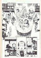 Last Hero Standing #2 p.9 - Avengers & Villains Splash - 2005 Signed Comic Art