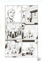 Booster Gold #40 p.7 - Hawkman, Flash, Black Canary, & Firestorm Costumes - 2011 Signed Comic Art