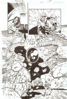 Booster Gold #14 p.15 - Crazy Action Splash - 2009  Comic Art