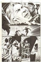 Catwoman #28 p.21 - Face Slashing Action - 2004 Signed Comic Art