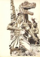 Turok, Dinosaur Hunter Unpublished Cover - Acclaim / Valiant - 1995 Signed