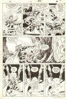 Eternals #12 p.41 - Iron Man, Thor, Wonder Man, & Others Action - 1986 Signed Comic Art