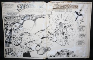 All-New Collectors' Edition #C-58 pgs. 52 & 53 - Incredible Superman vs. Captain Marvel Action Title DPS - 1978 Comic Art