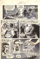 Tales of the Zombie #4 p.? - 'The Drums of Doom' Climax Page - 1974 Comic Art