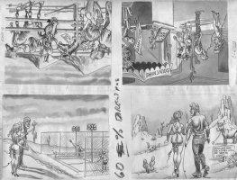 Cracked Magazine Four Panel Comic Art