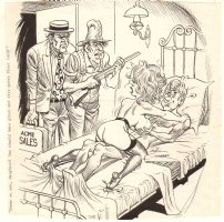 Adult Nudity Cartoon - ''Shame on you, daughter! You should have given our city guest first turn!'' Comic Art