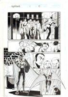Nighthawk #1 p.15 - Nighthawk Interrupts Basketball Game - 1998 Comic Art