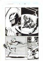 Nighthawk #1 p.20 - Nighthawk vs. Daredevil Action - 1998 Signed Comic Art