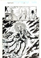 Nighthawk #1 p.22 - Mephisto Splash - 1998 Signed Comic Art