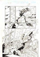 Nighthawk #2 p.5 - Nighthawk carries a dead Daredevil through out Hell Splash - 1998 Signed Comic Art