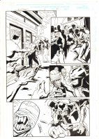 Nighthawk #2 p.10 - Nighthawk carries a dead Daredevil through out Hell - 1998 Signed Comic Art