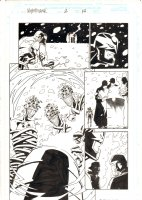 Nighthawk #2 p.14 - Nighthawk carries a dead Daredevil through out Hell - 1998 Signed Comic Art