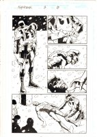 Nighthawk #2 p.17 - Nighthawk carries a dead Daredevil through out Hell - 1998 Signed Comic Art