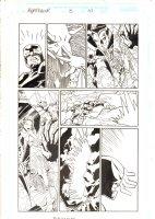 Nighthawk #3 p.10 - Nighthawk in Hell - 1998 Signed Comic Art