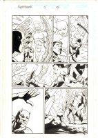 Nighthawk #3 p.15 - Nighthawk and Angel in Hell - 1998 Signed Comic Art