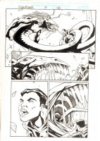Nighthawk #3 p.18 - Nighthawk vs. Mephisto - 1998 Signed Comic Art