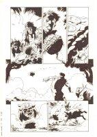 Marvel Zombies 3 #4 p.14 - Machine Man blows up Zombie Lockjaw - 2009 Comic Art