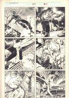 Daredevil #277 p.24 - Matt Murdock Action - 1990 Signed Comic Art