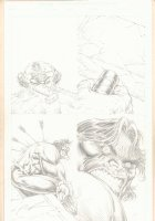 Hulk Pencil Page - Trying to Pick up the Hammer - Signed Comic Art